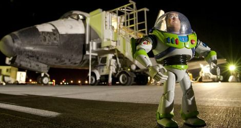 Buzz Lightyear returned to Earth on Discovery in 2009.