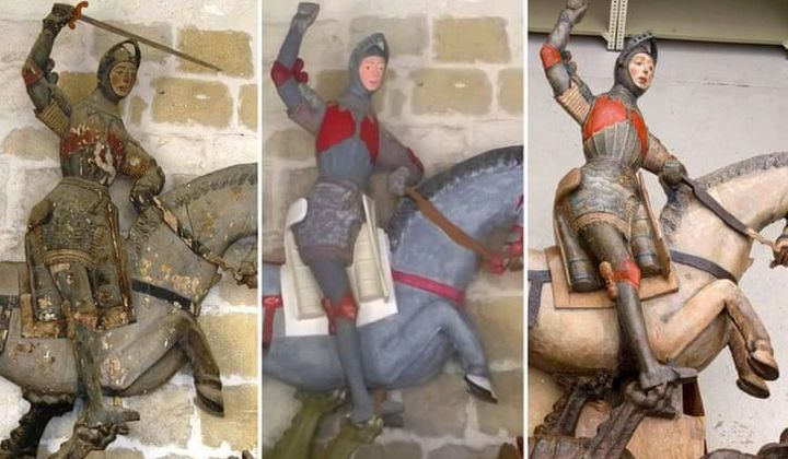 St. George Statue Undergoes 'Unrestoration'