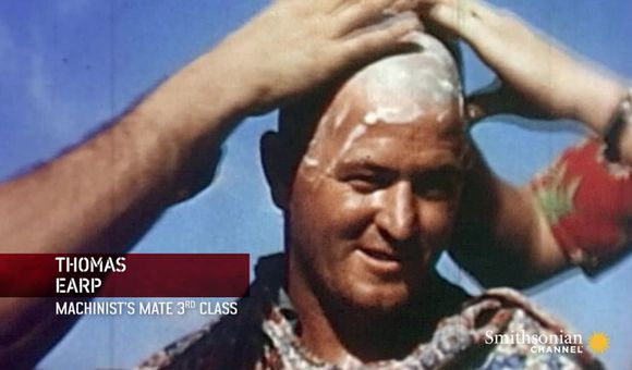 Preview thumbnail for video'Rare Color Footage of WWII Navy Hazing Rituals