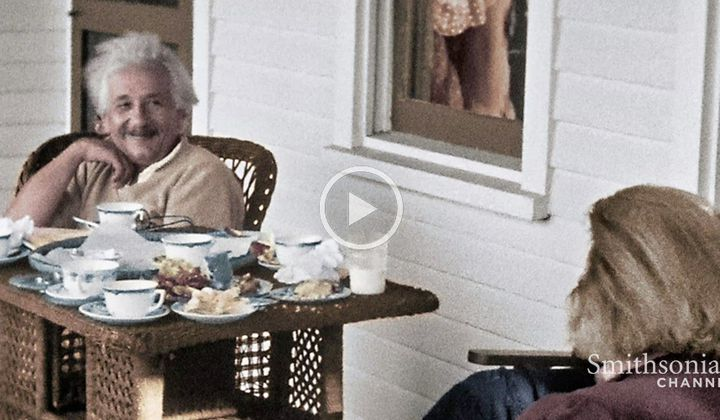Einstein's Life in America Shown in Stunning Home Movies