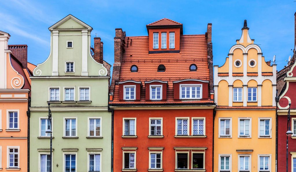 Wroclaw's Market Square is encircled by brightly colored residential buildings begging to be Instagrammed. #nofilterneeded