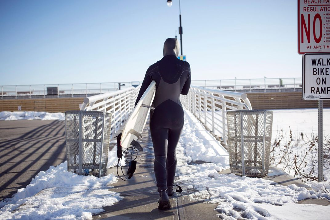 2e6df4cde0 A thick wetsuit is mandatory garb for surfers braving the ice-cold ocean.  (Granger Wootz Blend Images Corbis )