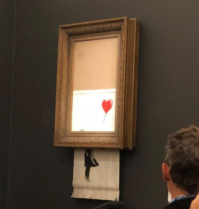 Watch This 14 Million Banksy Painting Shred Itself As Soon As Its