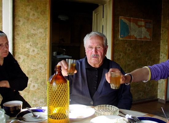 Don't be caught drinking until this Georgian man is done toasting.
