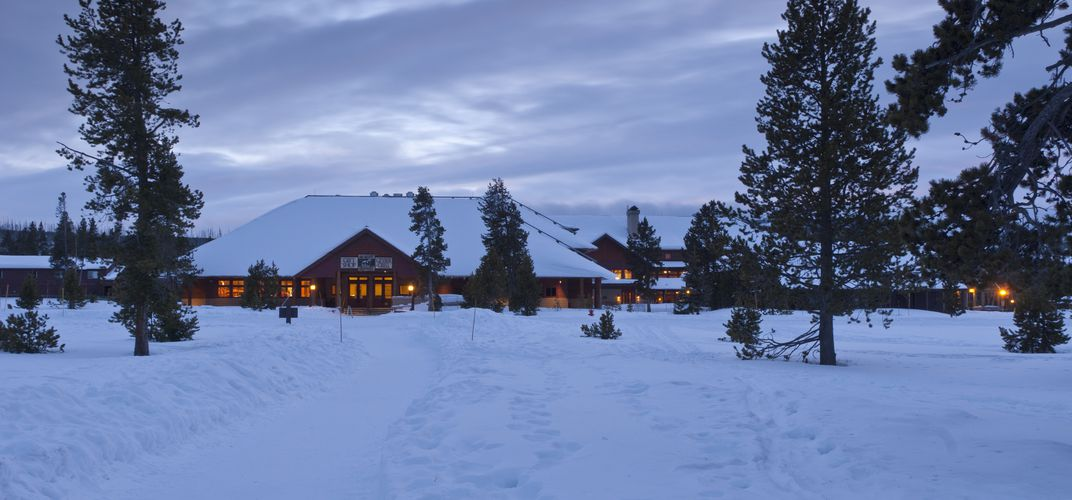 Old Faithful Snow Lodge in the winter