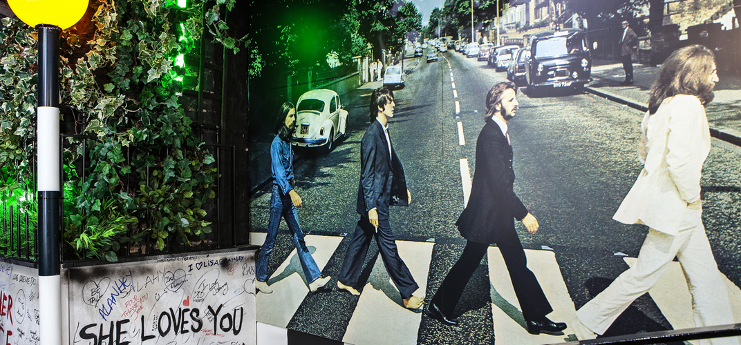 The famous Abbey Road album cover.  Credit: The Beatles Story
