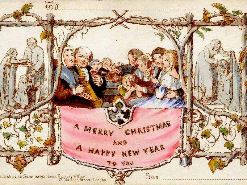 the history of the christmas card history smithsonian