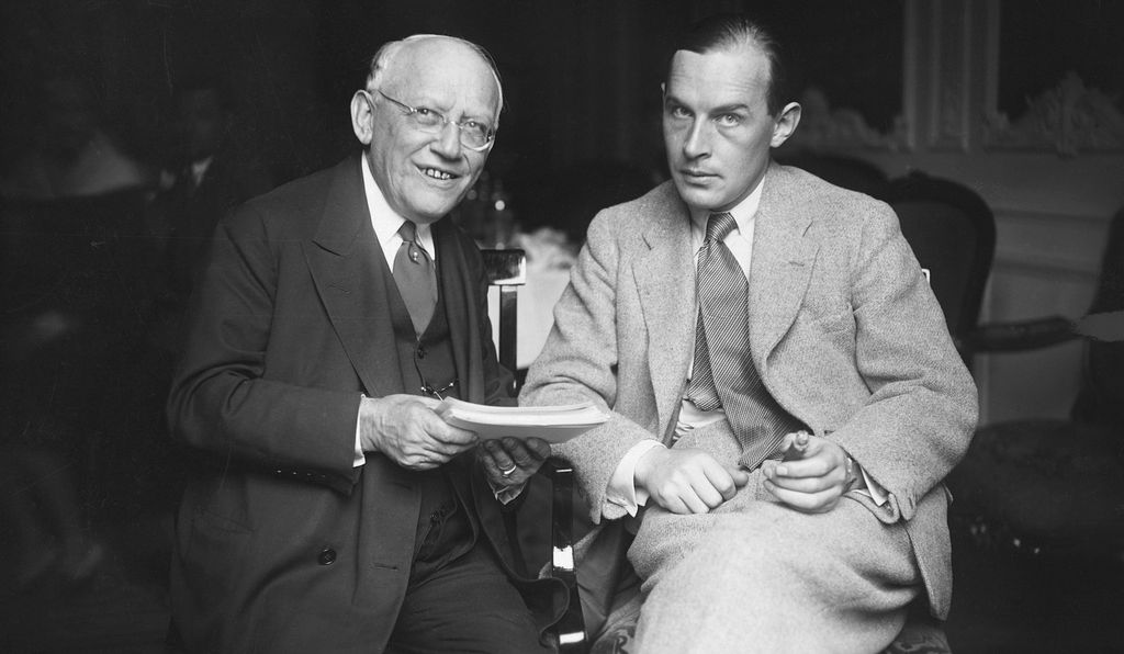Carl Laemmle, president of Universal Studios, and Erich Maria Remarque, at a Berlin Hotel in 1930.