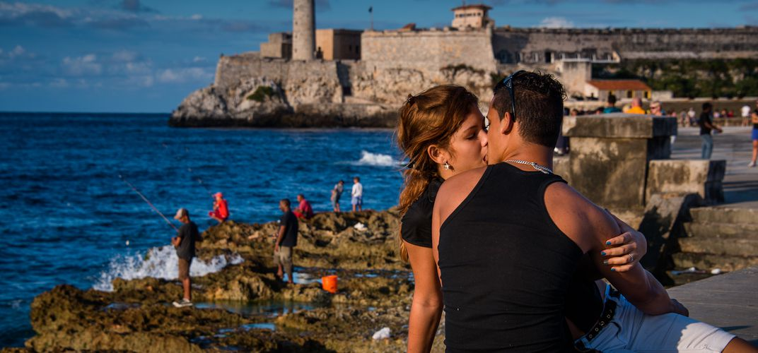 "Malecón, called ""lover's boulevard"" by the locals, stretching for four miles along Havana's north coast. Credit: Jia Han Dong"