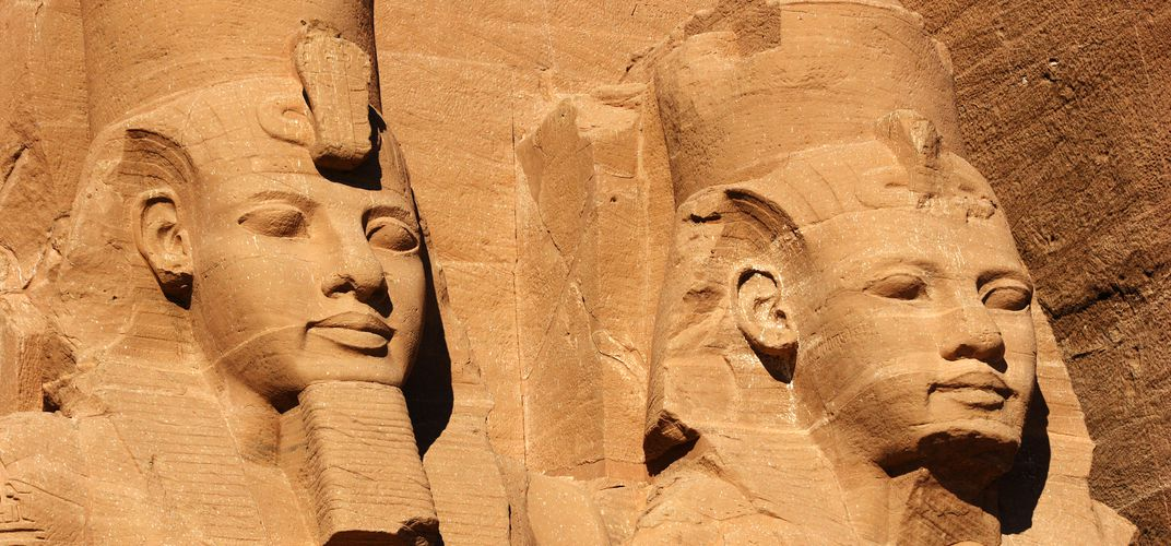 Detail of sculpture at Abu Simbel
