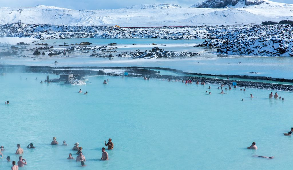 Iceland's Blue Lagoon in the spring.