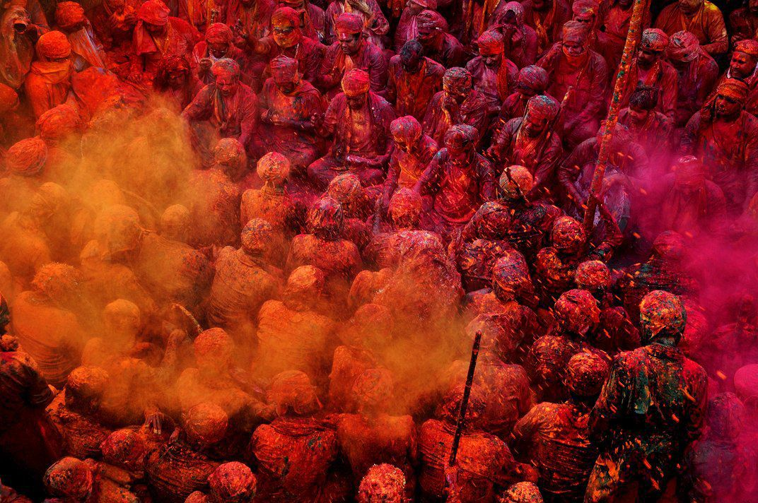 traditionally the colors used in holi came from flowers and herbs but today theyre usually synthetic tarun chhabra smithsoniancom photo contest