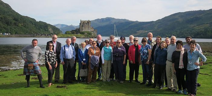 Smithsonian travelers at Eilean Donnain. Credit: Katherine Forsyth