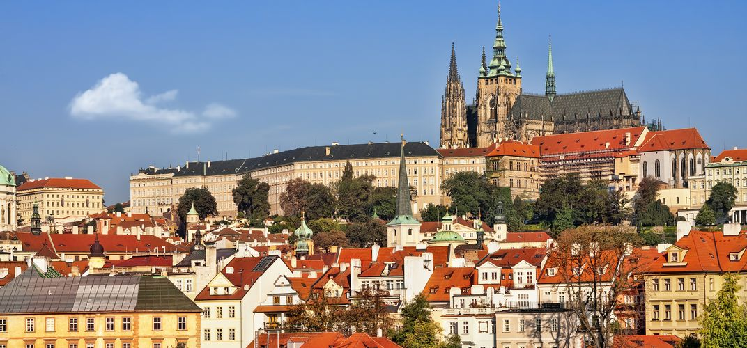 Hradcany Hill with St. Vitus Cathedral, Prague