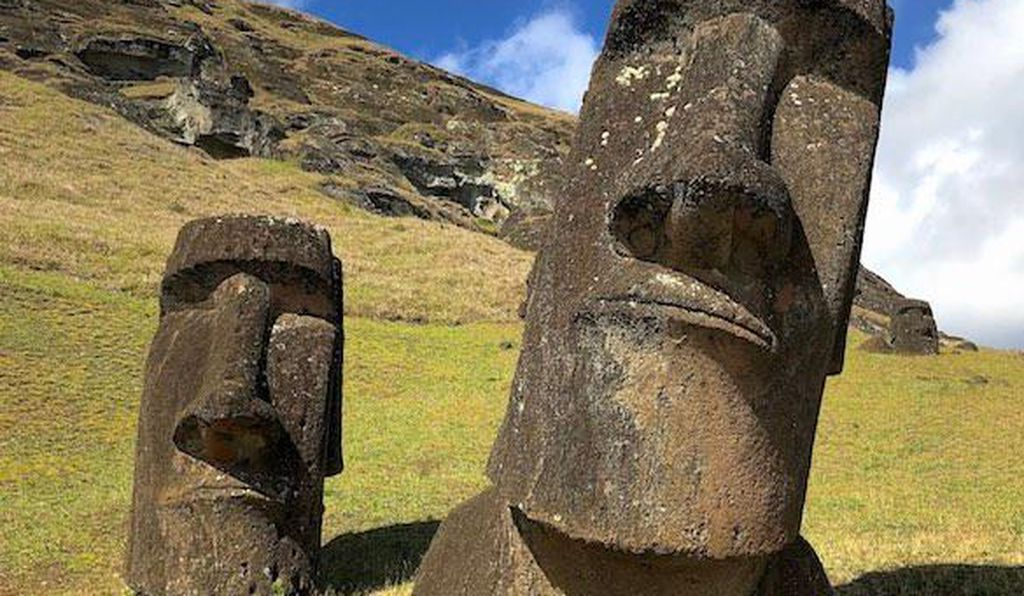 Moai statues at the Rano Raraku site on Easter Island