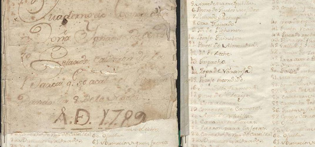 Caption: Dozens of Old Mexican Cookbooks Now Online