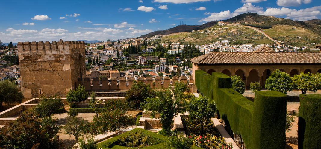 The gardens of the Generalife at the Alhambra