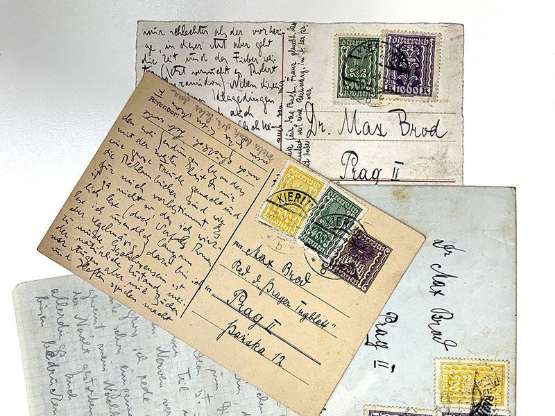 Letters from Max Brod's archive of Franz Kafka papers