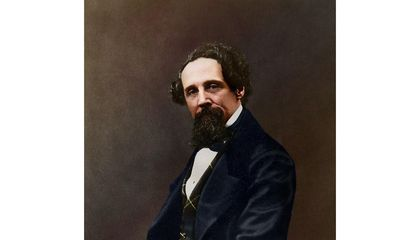 See a Newly Colorized Photograph of Charles Dickens