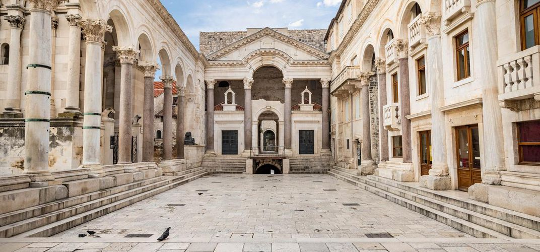 Section of Diocletian's extensive palace in Split