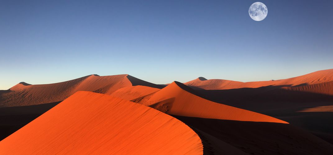 The dunes of Sossusvlei at dusk