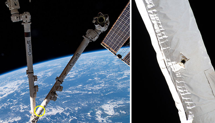 Space Junk Hit a Robotic Arm on the International Space Station