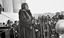 Marian Anderson at the Lincoln Memorial