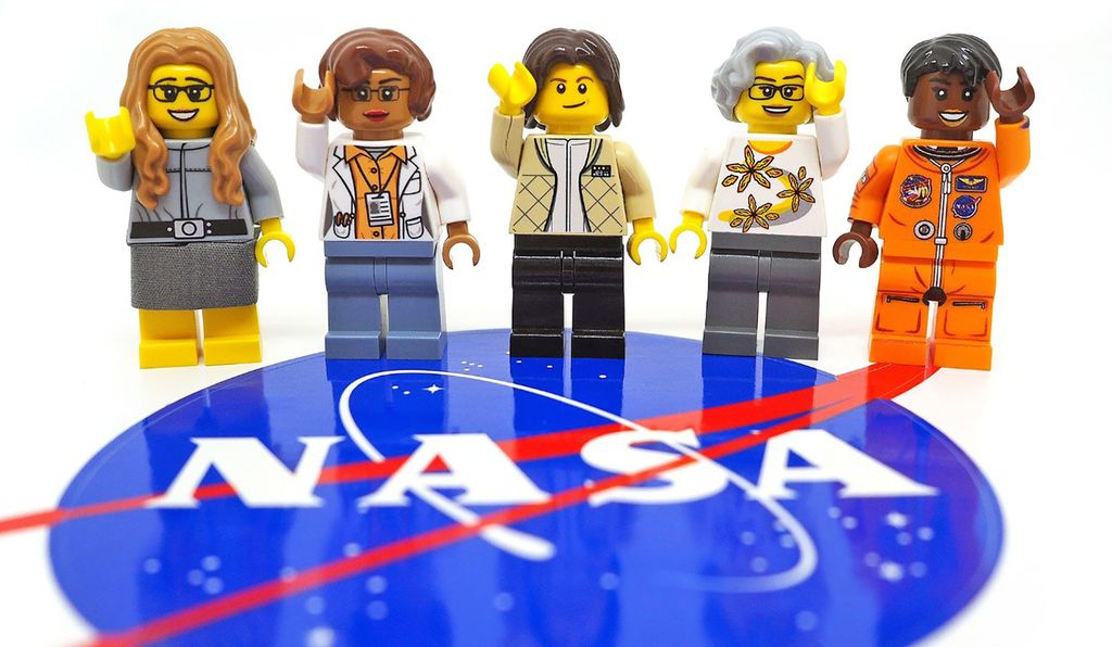 Science writer Maia Weinstock designed a Women of NASA LEGO prototype,