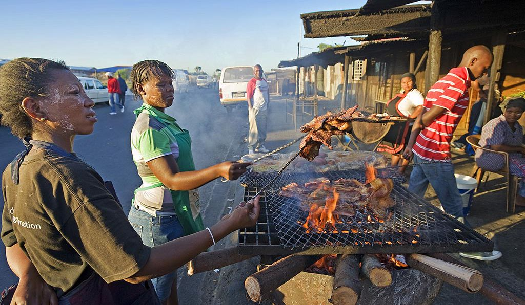 A local Braai in the township of Khayelitsha in Cape Town, South Africa.