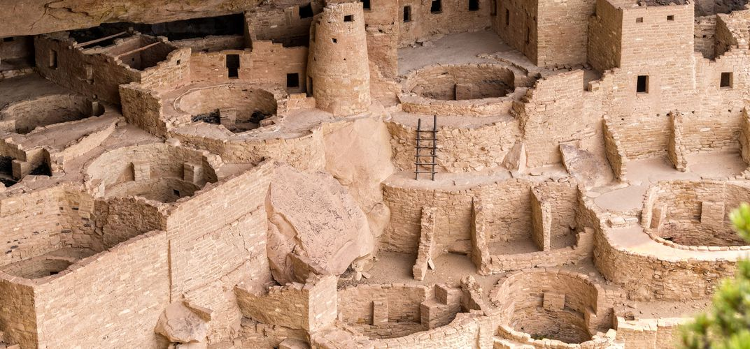 The cliff dwelling of Mesa Verde