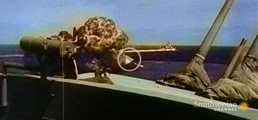 Caption: Intense Footage of Kamikaze Attacks During WWII