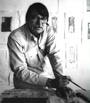 Richard Diebenkorn in his studio in 1986