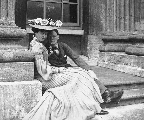 Consuelo Vanderbilt and Winston Churchill at Blenheim Palace, 1902