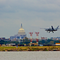 Textron Systems Scorpion jet arriving into the DC area at Reagan National for a promotional static display.
