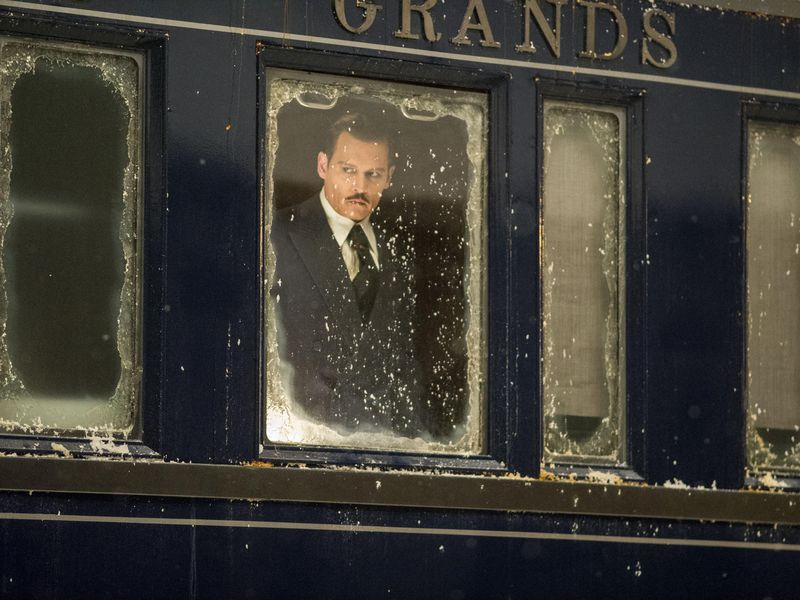 "Johnny Depp stars in Twentieth Century Fox's ""Murder on the Orient Express."""