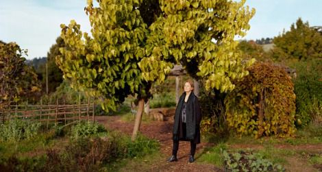 The newly commissioned Alice Waters portrait