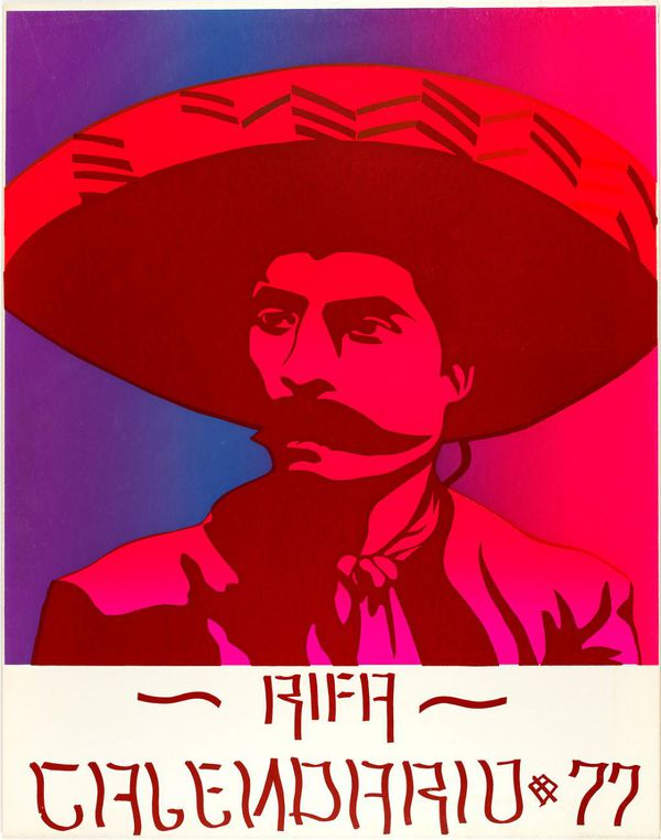 Print of man in sombrero