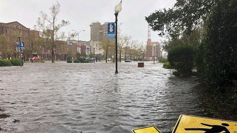 Flooding in North Carolina after Florence
