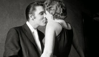 Elvis Presley kissing