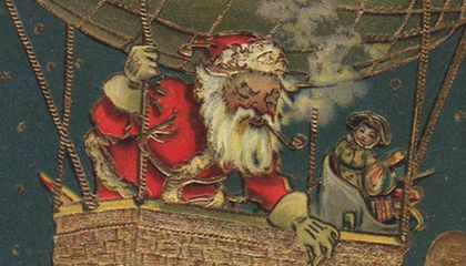 Santa Claus Builds A Flying Machine