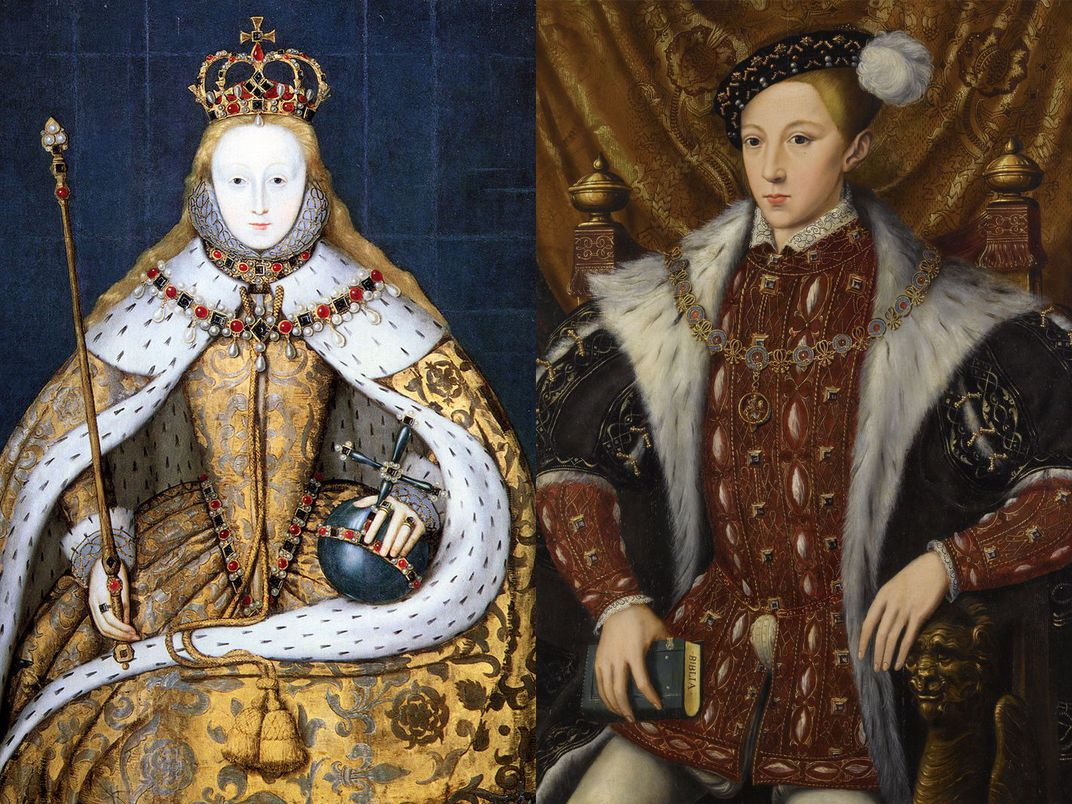 Elizabeth I and Edward VI