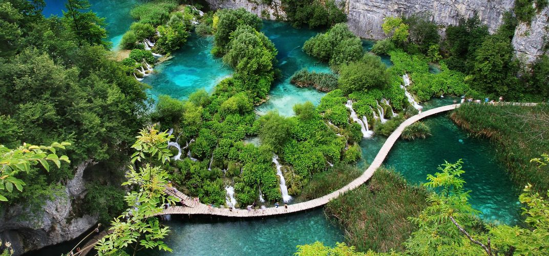 Walkway through Plitvice National Park