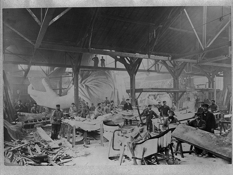 Statue of Liberty in workshop