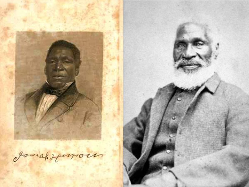 (Left) Young Josiah Henson; (Right) Josiah Henson, age 87, photographed in Boston on June 17, 1876