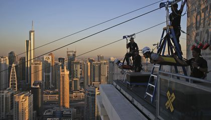 Image: Dubai unveils a new zip line among towering skyscrapers