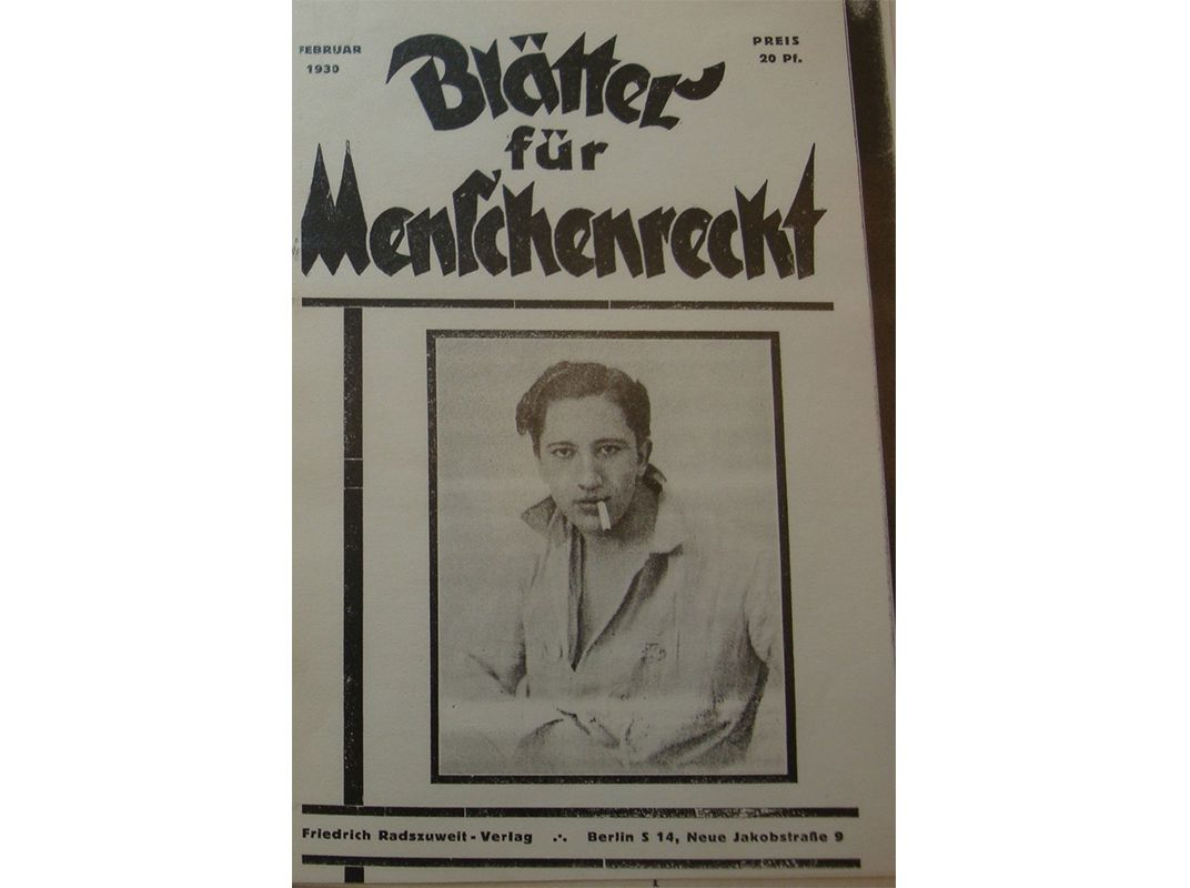 A magazine put out by the League for Human Rights in 1930