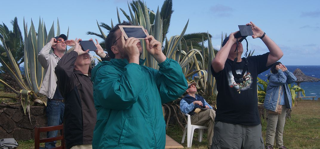 Eclipse viewers with eye protection