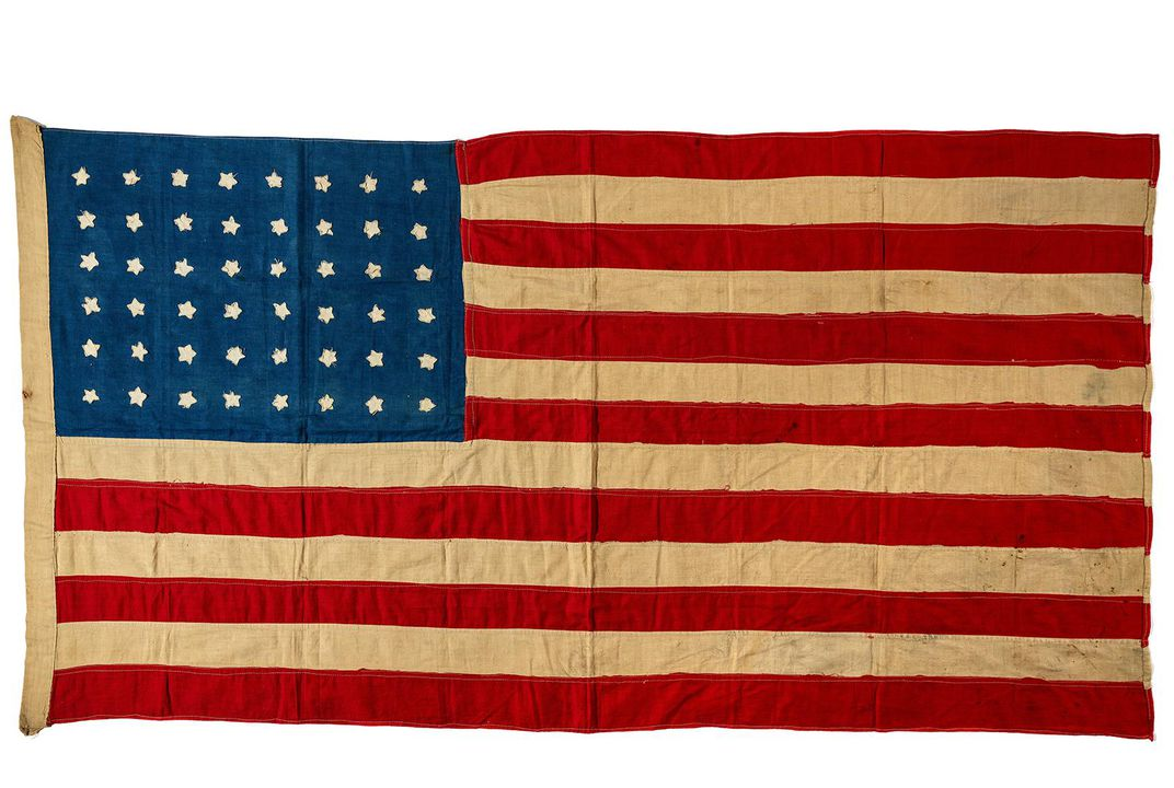 A Hundred-Year-Old Handmade American Flag Flies Home. . . to Scotland   At the Smithsonian   Smithsonian