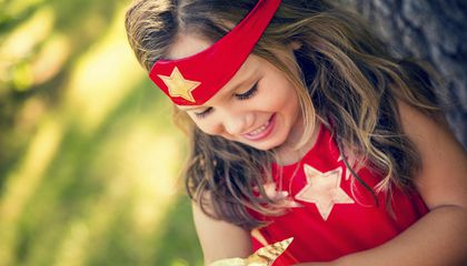 Image: Kids ditch princess costumes in favor of superheroes this Halloween
