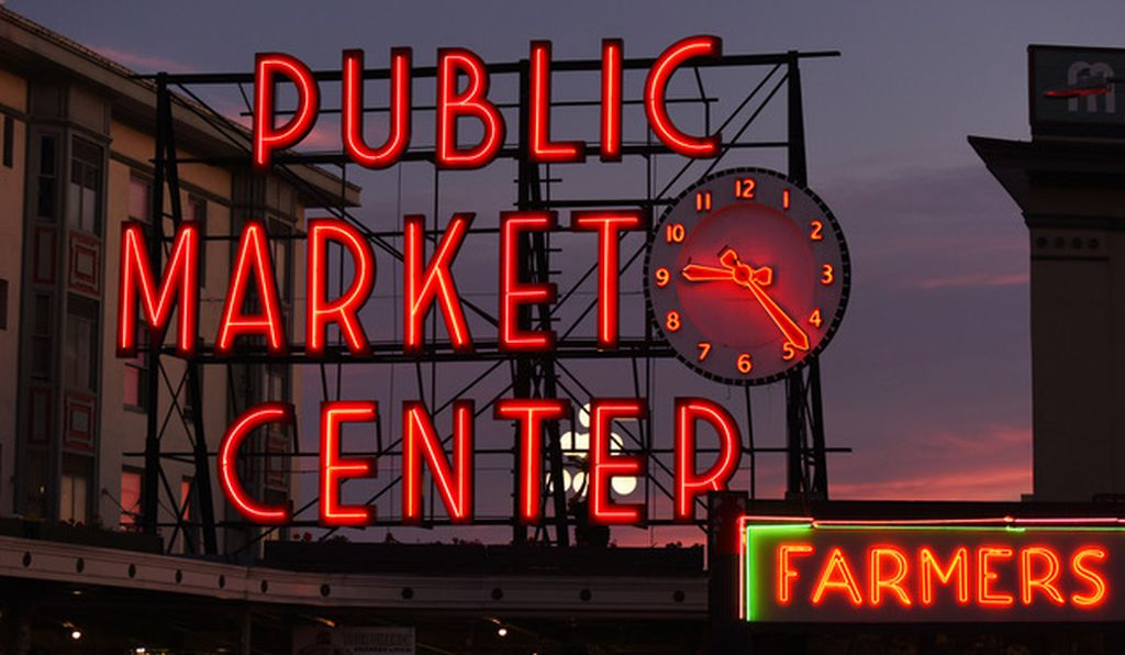 Pike Place Market in Seattle is one the many iconic neon signs featured in photographer John Barnes' new book